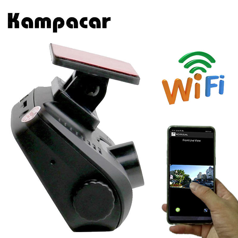 Kampacar 2 pouce Voiture Dvr Mini Caméra Auto Dash Cam Full HD 1080 p Automovil Registrator Vidéo Numérique Enregistreur Wifi dashcam Dvr
