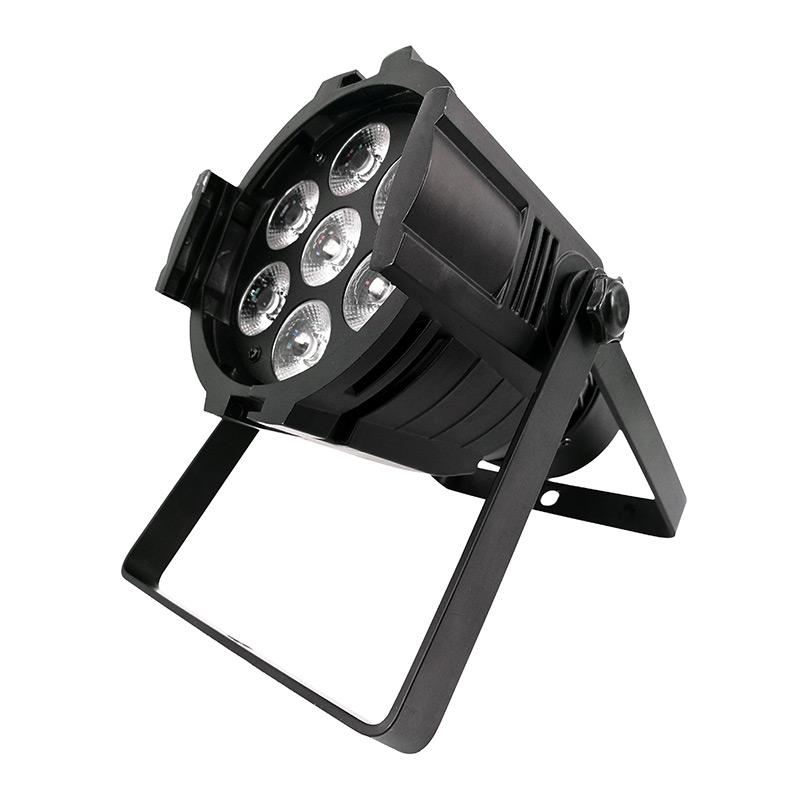 SHEHDS Aluminum Alloy LED Par 7x12W RGBW Lighting Stage Lights With DMX Master Slave Sound Activated For DJ Party Disco