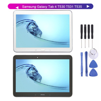 KUERT 10.1For Samsung Galaxy Tab 4 T530 T531 T535 LCD Display Digitizer Screen Touch Panel Sensor Assembly + Frame Free Tools