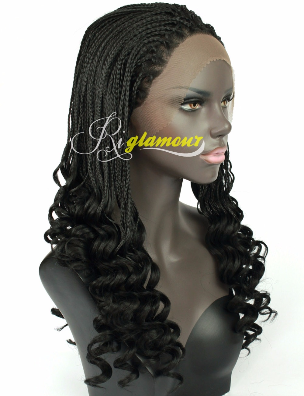 African American Wavy and Micro Braided Lace Front Wigs ...