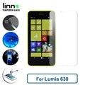 Премиум 9 H твердость 0.3 мм 2.5D закаленное стекло протектор для Nokia Lumia 630 защитная пленка бесплатная быстрая доставка