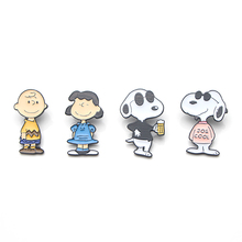 Cartoon Dogs Brooches for men women Zinc alloy Enamel Pins medal Cute insignia For backpack clothes bag decoration Badges E0317 цена