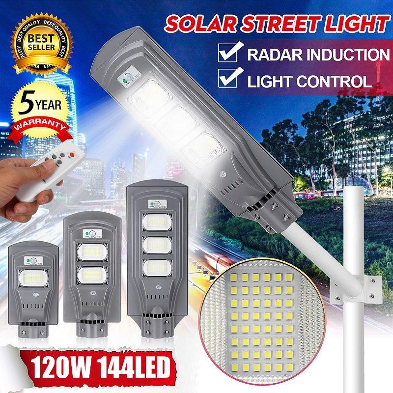 Outdoor Solar Street Light 40/90/120W LED Solar Light PIR Motion Sensor Remote Control Wall Timing Lamp Garden Lighting Safety