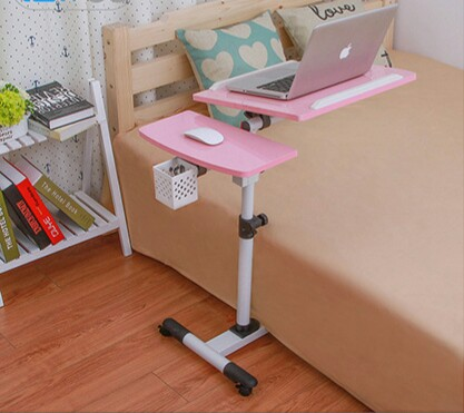 Computer Desks Commercial Office home Furniture wooden+ steel tube laptop desk 95*40*68cm foldable portable new 7kg with roller  Стол