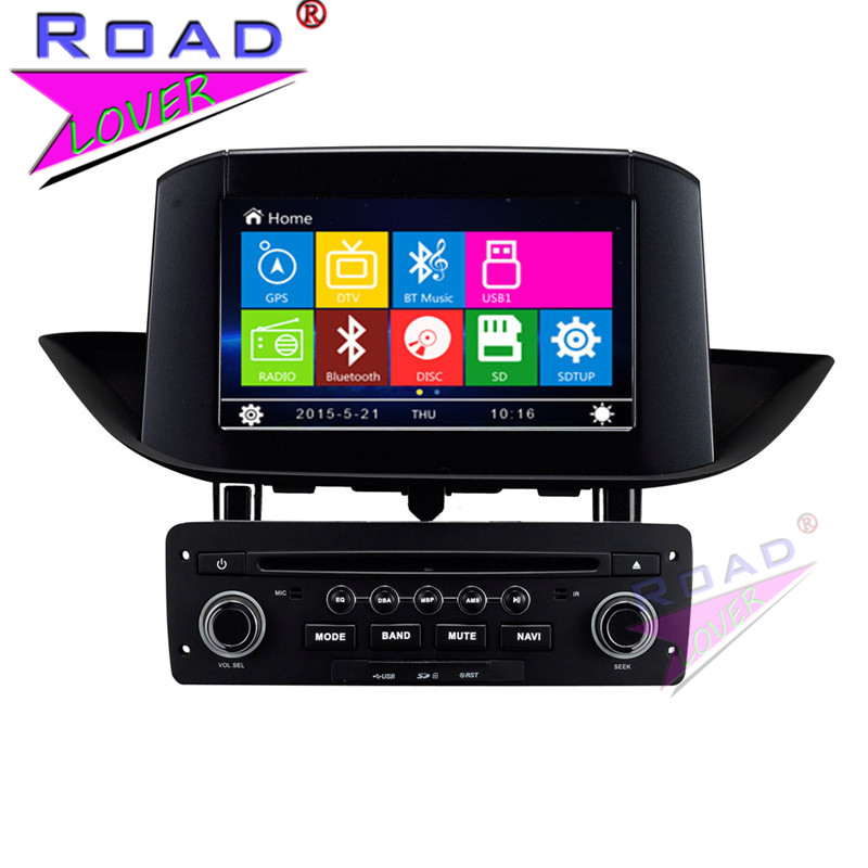 TOPNAVI Wince 6.0 Two Din 8 Car Media Center DVD Player Radio For peugeot 308 2012- Stereo GPS Navigation TFT Touch HD Screen