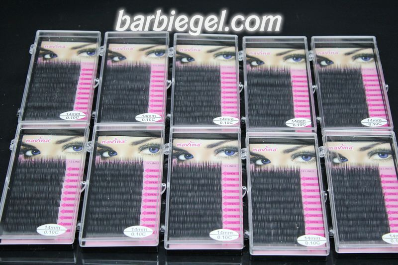 10 cases/lot 14mm C Curve 0.10 thickness MINK eyelash extension artificial eyelash Fake Makeup False Eye Lash Eyelashes