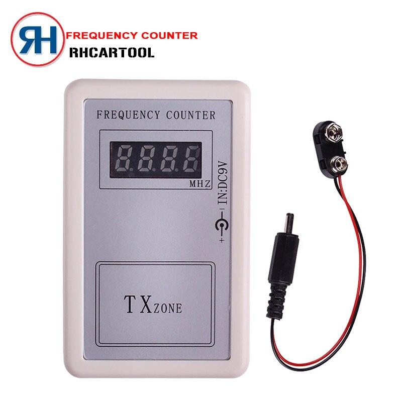 Prix pour 2017 Mini Poignée Numérique Frequency Counter Tester Indicateur Détecteur Cymometer Télécommande Émetteur Wavemeter 250-450 MHZ