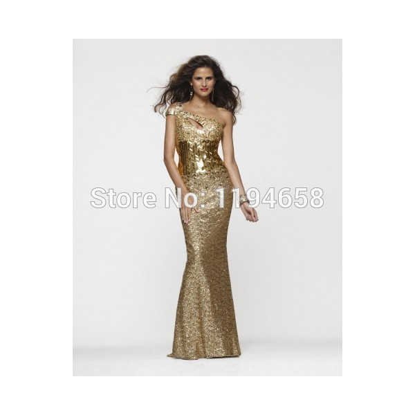 Neueste Mermaid Sexy Perlen Gold Pailletten Kleid Lang Durchsichtig ...