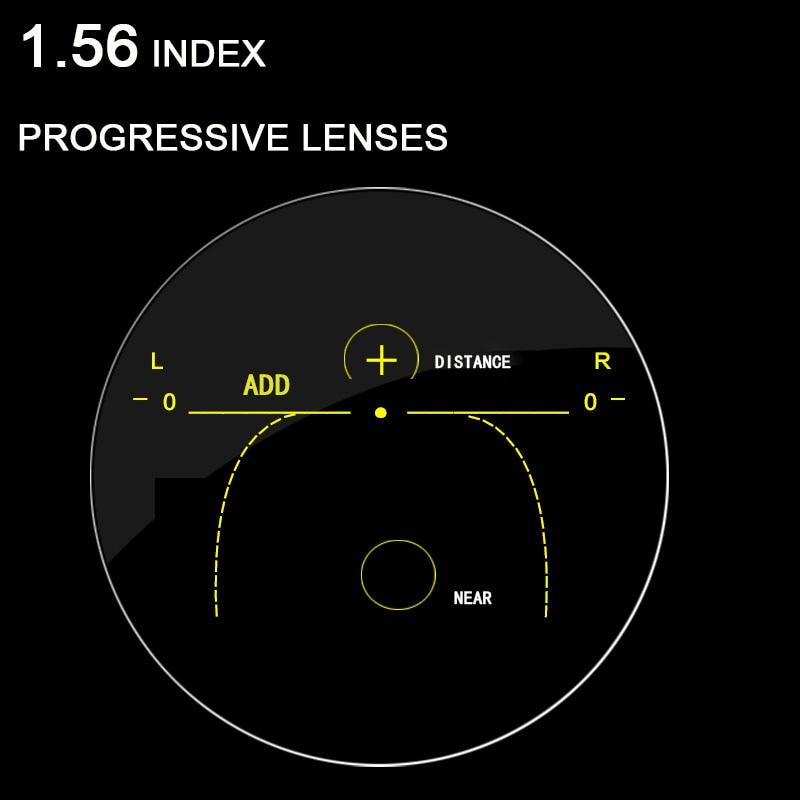 1.56 Index Progressive Prescription Lenses Free Form Multi Focal Lens without line for Myopia/Hyperopia Inner Progressive Lense