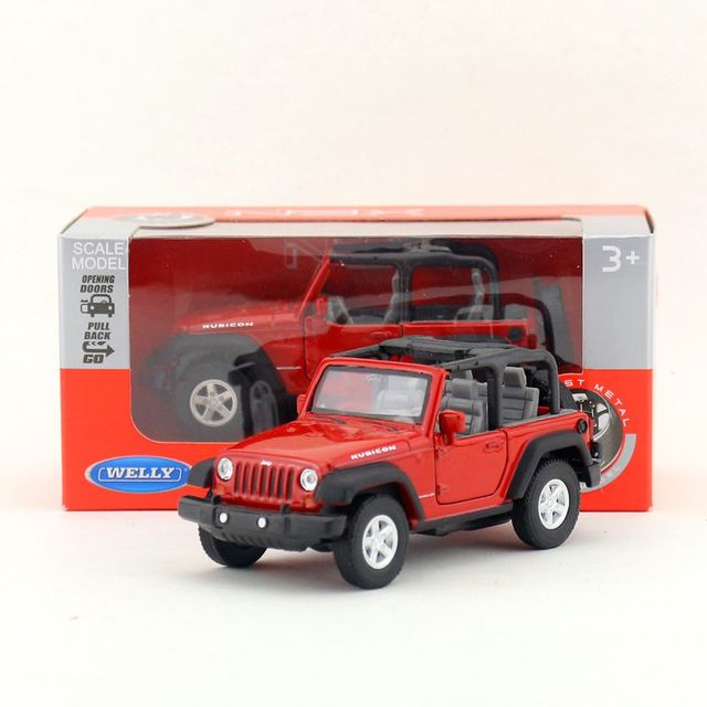 Welly Diecast Model 1 36 Scale 2007 Jeep Wrangler Ribcon Toy Car