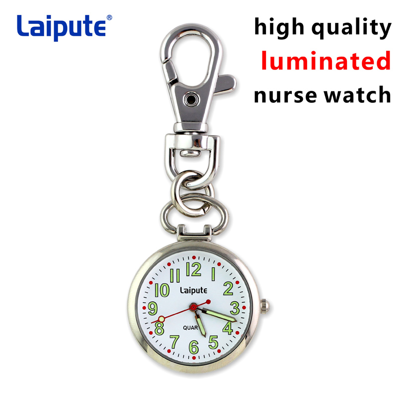 LAIPUTE Stainless Steel Silver Nurse Doctor FOB Pocket Watch Quartz Analog Pendant Men Women Watches GL46 Nurse Pocket Watch laipute brand new keychain nurse watches fob doctor quartz hanging pocket watch relog luminous hands zakhorloge montre