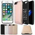 Внешний 2600-7500 мАч Power bank Пакет зарядное Устройство резервного копирования Case Для iPhone 7 7 Plus с закаленное стекло фильм и даты USB линии