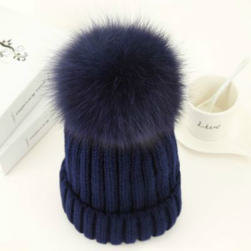 mink and fox fur ball cap pom poms winter hat for women girl 's wool hat knitted cotton beanies cap brand new thick female cap women s winter hat new real mink fur pom fluffy ball hat cap fox fur ball mink fur fashion russian cap hat for women dhy17 20