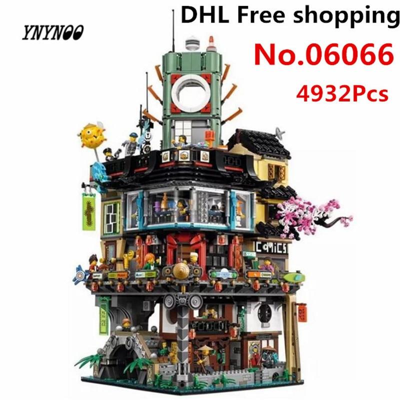 YNYNOO New Arrival 4867pcs Lepin 06066 Ninja City Masters of Spinjitzu Building Blocks Bricks Toys with 70620 ninja tianium tumbler lepin 06040 model building minifigure masters spinjitzu 371pcs blocks kids toys compatible with 70588