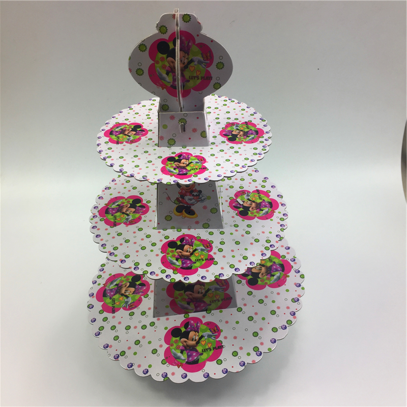 Mickey mouse 3-tier cake stand cupcake holder girl kids <font><b>birthday</b></font> party supplies baby shower party favor decoration cupcake stand