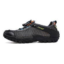 Summer 2017 Hot Outdoor Sports Hiking Shoes for Men Tactical Hiking Upstream Shoes for Summer Breathable Waterproof Coating