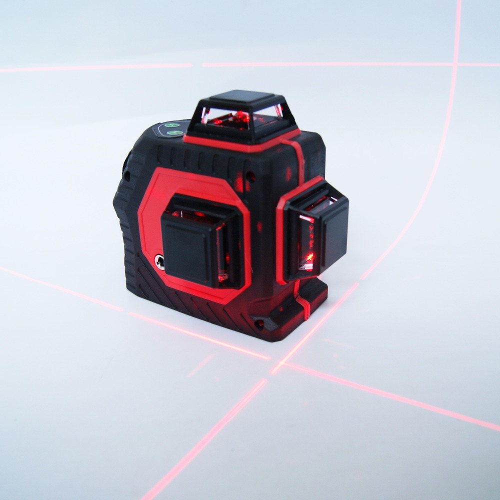 Professional 12 Line 3D laser level 360 Vertical And Horizontal Laser Level Self-leveling Cross Line 3D Laser Level with outdoor kapro laser level laser angle meter investment line instrument 90 degree laser vertical scribe 20 meters