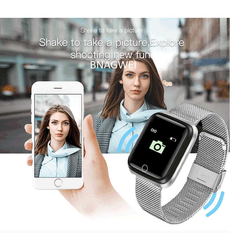 Fashion Smart Watch Pria Wanita Heart Rate Monitor Tekanan Darah Pelacak Kebugaran Tracker Olahraga Tahan Air Smart Watch untuk iPhone