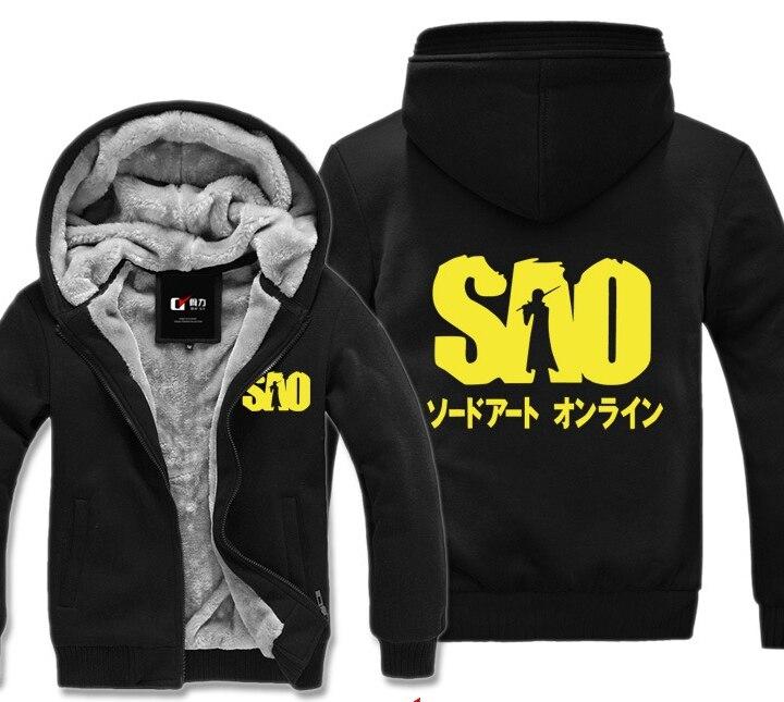 Sword Art Online Asuna Winter Hoodies Sweatshirt Men Cute Casual  Male Jackets Hoody Cloak Shawl Man Cloth Keep Warm SAO