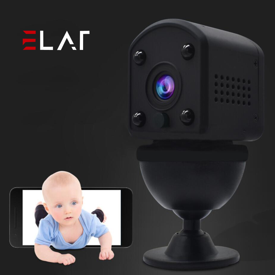 ELAF Small Mini Car Wireless Wifi IP Camera IR-Cut Night Vision wi-fi Home Security Cameras Baby Monitor Outdoor Micro Camcorder