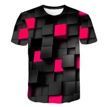 2018 Plus Size 5XL Male 3d t shirt Fashion Diamond Cool Patchworked Hip Hop t-shirt Geometry Triangular Tee