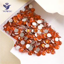 YANRUO 2058NoHF SS16 Hyacinth 1440Pcs Non Hotfix Crystal Strass Flat Back Nail Art DIY Rhinestones Stick On Nails