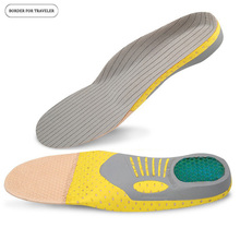 BORDER FOR TRAVELER Orthopedic Insoles Sports insoles Shock Absorption Arch Support Running Shoe Pads Breathable Function Insole