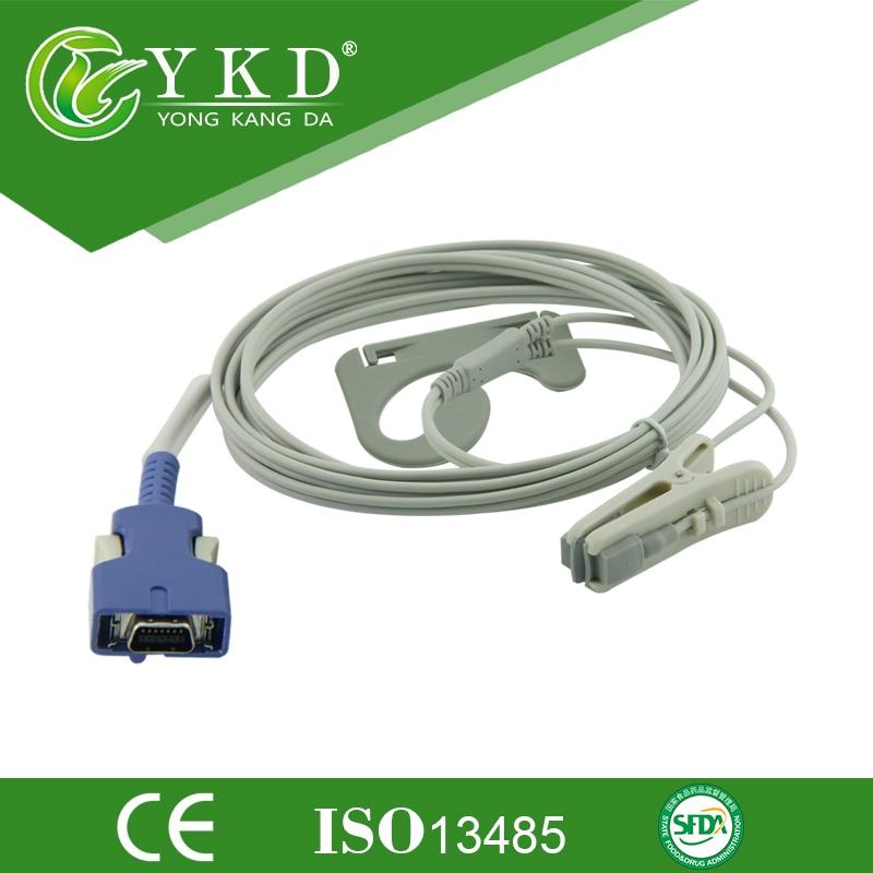 Nellcor DOC-10 For NPB 4000C, NPB 5500, NPB 4000 N-595 Oximax Animal Ear Clip Spo2 Sensor,14pins