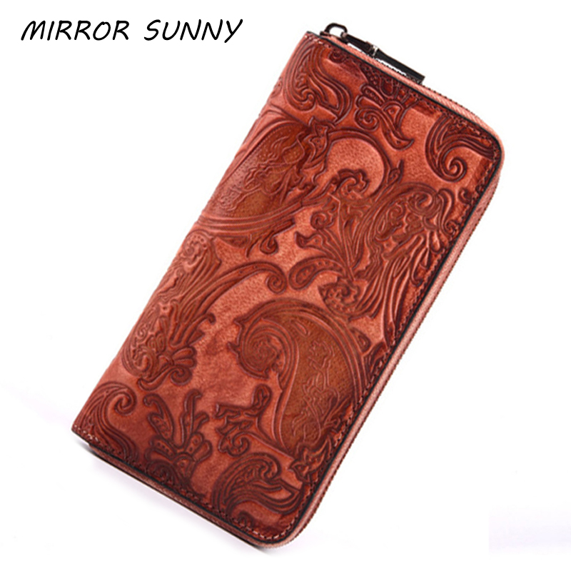 First Layer Cow Leather Wallet New Arrival Lady Fashion Brushed Purse Retro Zipper Multi Ccard Handbag Clutch Wallet FemaleFirst Layer Cow Leather Wallet New Arrival Lady Fashion Brushed Purse Retro Zipper Multi Ccard Handbag Clutch Wallet Female