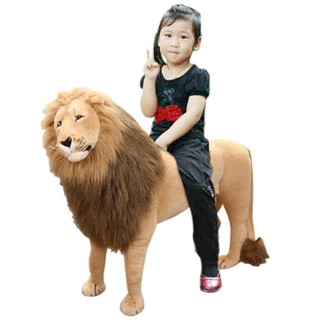 Dorimytrader Simulation Forest Animal Lion Plush Toy Large Stuffed