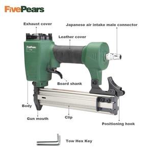 Image 4 - FivePears Air Nailer Gun Straight Nail Gun Pneumatic Nailing Stapler Furniture Wire Stapler F30