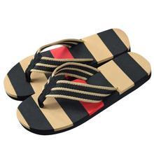 Zapatos SAGACE Hombres 2018 moda salvaje Verano de la raya Flip Flop Shoes Sandalias Male Slipper Flip-flops Apr10
