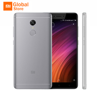 Original Xiaomi Redmi Note 4X 4GB RAM 64GB ROM Mobile Phone MTK Helio X20 Deca Core 5.5