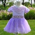 Novas Flores do Verão As Meninas Da Criança Vestido 2016 Bonito Crianças Vestidos Para Meninas Princesa Traje para a Festa de Aniversário Do Bebê Roupas de Menina