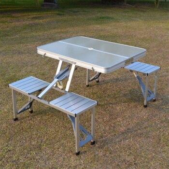 Silla de mesa plegable para exteriores, mesa de Picnic de aleación de...