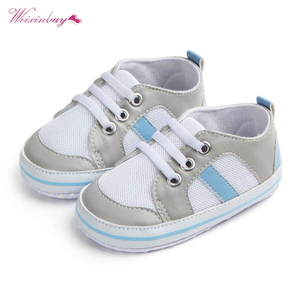 48eb6f1a6 New Canvas Sports Sneakers Newborn Baby Boys Girls First Walkers Shoes  Infant Toddler Soft Sole Anti-slip Baby Shoes | The Brand Shop