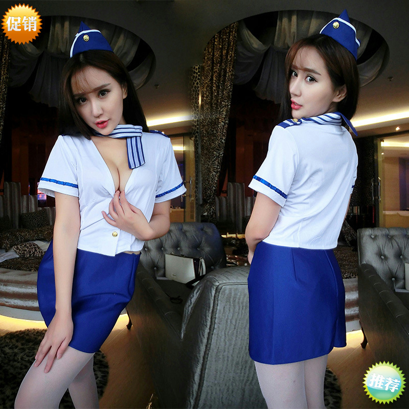 Cosplay Youth Flight Attendant Policewoman Sexy Lingerie Uniforms Sexy Costumes Women Products Sexy Underwear Role Play Erotic image