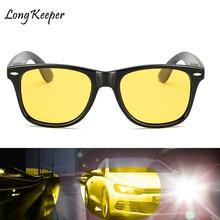 Long Keeper Mens Yellow Night Vision Sun Glasses Women Polarized High Quality HD Lens Driving Safety Eyewears UV400 KP1029