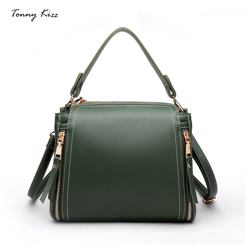 где купить Bags for women 2018 new handbag college bucket small bag fashion shoulder diagonal package leather handbags Tonny Kizz brand дешево