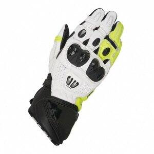 Image 3 - جديد 4 ألوان 100% جلد طبيعي GP PRO R2 دراجة نارية طويلة قفازات سباق القيادة دراجة نارية الأصلي موتوكروس جلد البقر قفازات