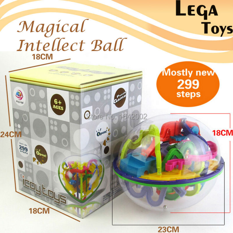 3D Magic Maze Ball 299 Closed Level Intellect Ball Children's Educational toys Orbit game intelligence Christmas New year GiftPuzzles & Games