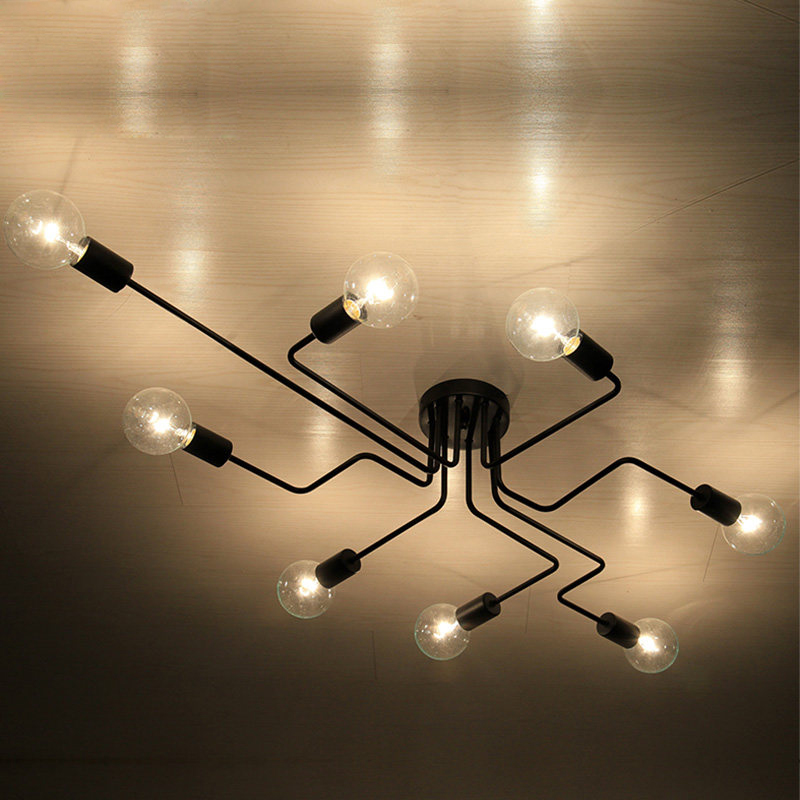 industrial pipe lighting. Black Retro Industrial Loft Nordic Ceiling Lamp Home Decor Conduit Pipe Light Fixture For Restaurant Dinning Cafe Bar Room-in Lights From Lighting