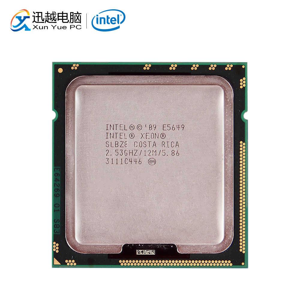 Intel Xeon E5649 Desktop Processor Six-Core 2.53GHz L3 Cache 12MB 5.86 GT/s QPI LGA 1366 SLBZB 5649 Server Used CPU