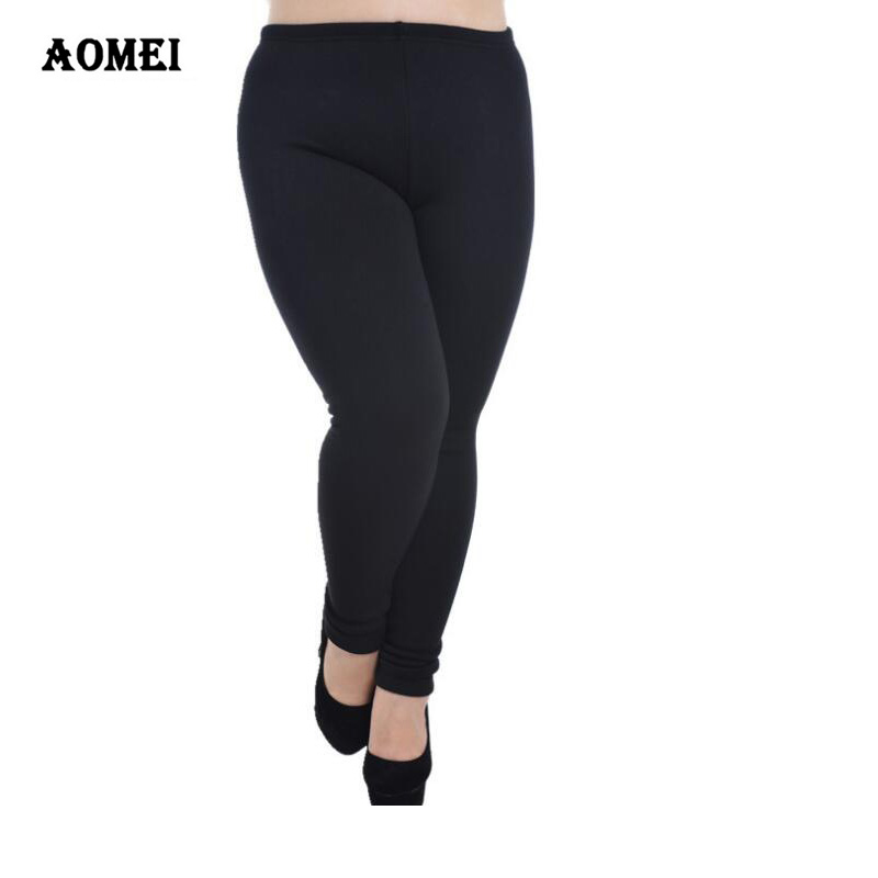 Fleece Lined Leggings Plus Size Women Leggings For Cold Winter Warm Black Female Velvet Fitness Casual Woman Clothed Pants