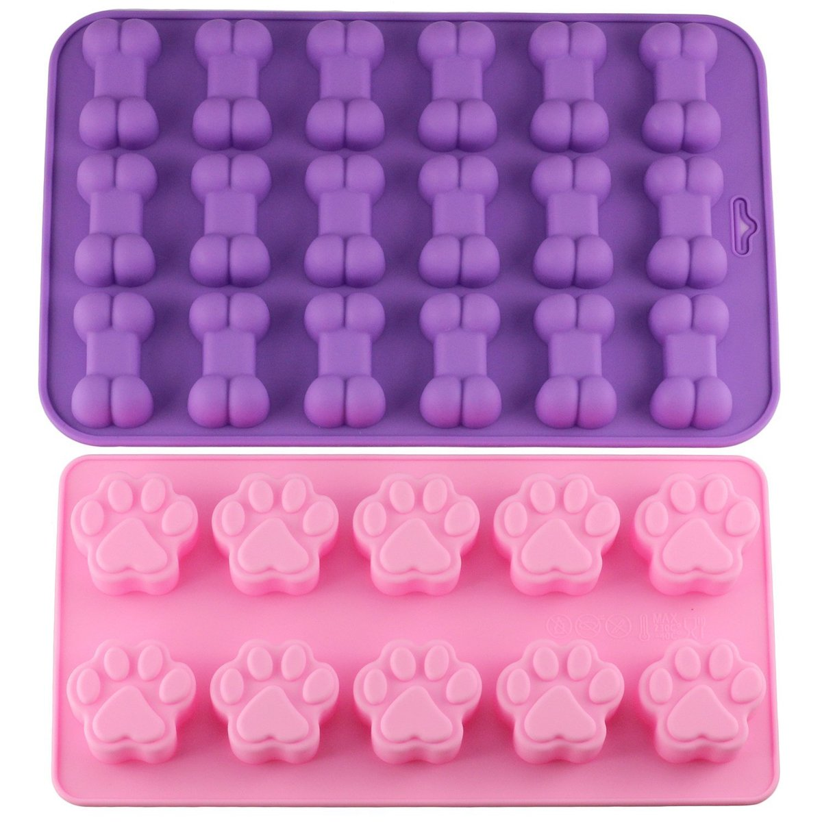 Mujiang Puppy Dog Paw and Bone Ice Trays Silicone Pet Treat Molds Soap Chocolate Jelly Candy Mold Cake Decorating Baking Moulds(China)