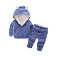 BibiCola Girls Clothing Sets Fashion 2018 Winter Clothes For Boys Suit Warm Thick Hooded Tracksuit for Children Girls Clothing