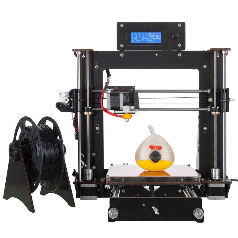 2018 plus récent OYfame 3D imprimante kit de bricolage imprimante 3d impresora et 4 clé hexagonale PLA matériaux 1.75 blanc