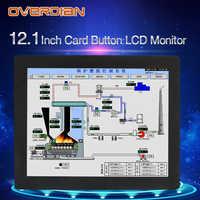 """12 """"ResistanceTouch Controllo Industriale Lcd MonitorVGA/Interfaccia USB 1400*1050 Guscio In Metallo Fibbia Carta di Installazione"""