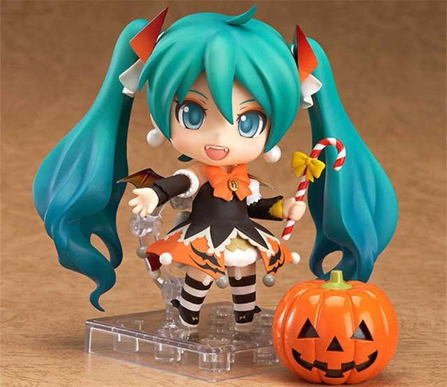 "Action 10cm Anime Nendoroid Vocaloid Hatsune Miku Halloween Ver Figure PVC 4"" Collection Hobby Model Doll Best Gift Cosplay Toy"