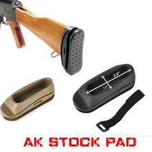 Airsoft Tactical Shockproof Rubber AK Stock Pad AK47 Recoil BUTT Stock Pad Paintball Rifle Gun Accessorie
